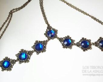 Chain headpiece - headdress  • bridal accesories • vintage headpiece- statement jewelry