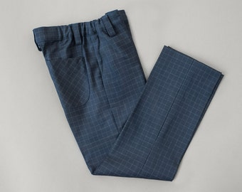 Black squared boys suit trousers