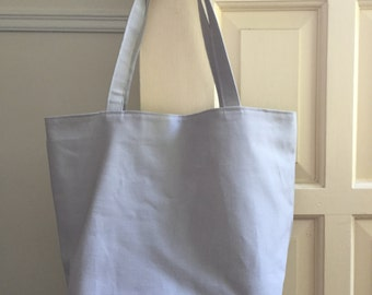 grey canvas tote bag // pul lined waterproof interior // market tote bag // READY TO SHIP