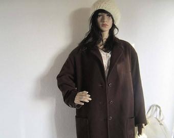 Vintage 80s Saint Honore Jacket wool 44 oversize wool coat jacket