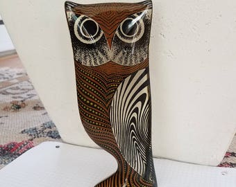 Palatnik Lucite owl sculpture figure