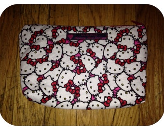 Hello Kitty zippered pouch, cosmetic bag
