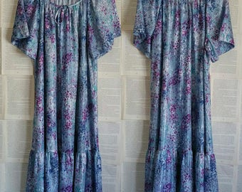 Vintage sheer floral dress/mumu - Plus Size 16+