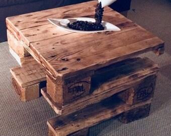 Tisch Europalette Couchtisch Wohnzimmertisch Holz Vintage Rustikal
