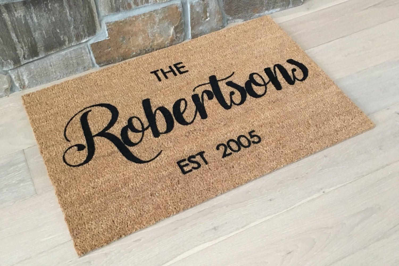 com original letteroom door by doormat personalised personalized product notonthehighstreet mat