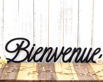 Bienvenue French Welcome Metal Wall Art | Welcome | Welcome Sign | Welcome Wall Art | Outdoor Sign | Wall Hanging | Wall Decor