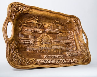 Washington DC Souvenir Tray US Capitol Silberne