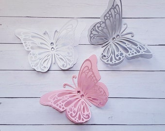 Paper butterfly pink  paper butterflies 3D paper butterfly Gray paper butterflies white Butterfly cutouts paper butterfly die cuts