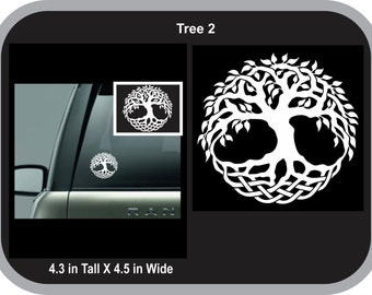 Tree of Life 1 Celtic Norse Viking Vinyl Decal Sticker White