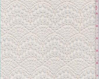 Ecru Crochet Scallop Lace, Fabric By The Yard
