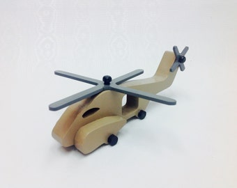Wood Toy Helicopter Wooden Toy Chopper Kids Toy Helicopter Painted Toy Helicopter Sea Dragon Helicopter Military Toys