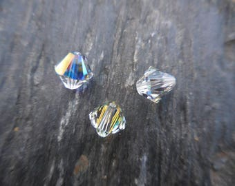 Crystal Swarovski bicone 8 mm: 20 beads crystal AB.