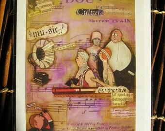A night at the Opera    Blank Art card