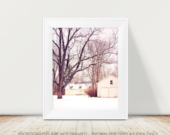 Rural Photography, Architecture, Cream White, Farmhouse Photograph, Barn, Rustic Photography, Rural Decay, Abandoned Farm, Cottage Country