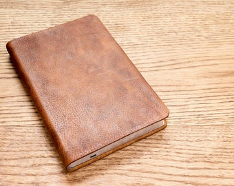 Full Grain Cowhide Leather Bible, NKJV Thinline
