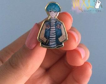 BTS Mint Suga lapel pin