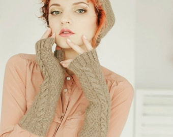 Warmers   Hand Warmers   Arm Warmers   Knit Fingerless Gloves   Gray Gloves   Gray Fingerless Mittens
