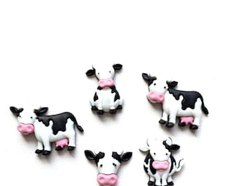 Cow Magnets, Cute Cows, Fridge Magnets, Push Pins, Neodynium Magnets