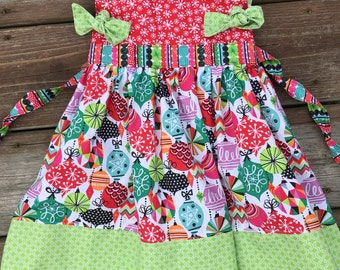 12-18 month Christmas dress ready to ship - sale - toddler holiday dress - toddler christmas dress