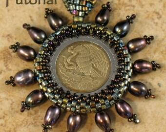 Beading Tutorial - Captured Coin Pendant