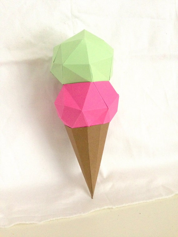 Ice cream time papercraft you get a pdf digital file with ice cream time papercraft you get a pdf digital file with templates and instruction of diy papercraft minimalist ice cream cone from sofspaperplanet on ccuart Choice Image