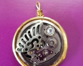 OOAK Steampunk Watch Parts Necklace