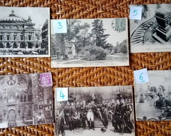 616) set of 6 vintage postcards of France