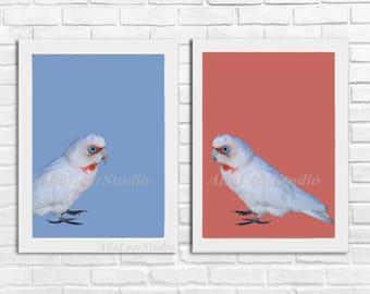 Nursery Wall Art Prints, Kids Art Print, Birds Art Print, Parrot Nursery Print, Instant Download, Printable Kids Art, Modern Nursery Decor