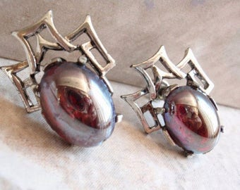 Dragons Breath Earrings Asian Inspired 11 W 30th St Dodds Vintage 130624