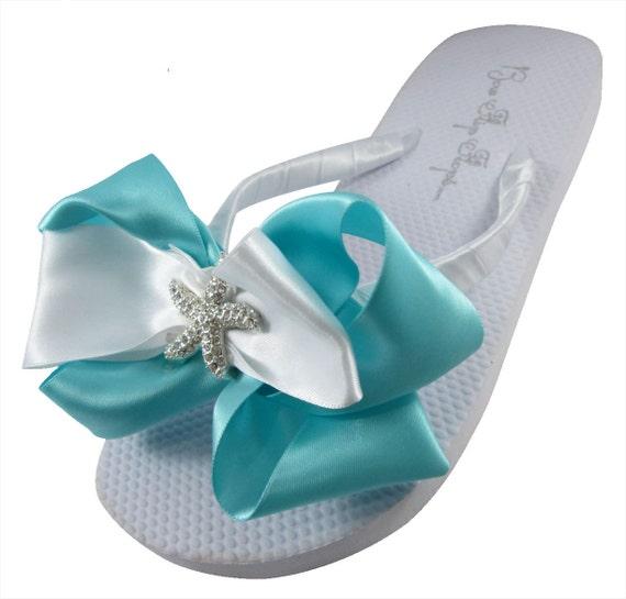 847c19042285e9 flip Rhinestone Bridal White platform egg Bride robin s Starfish wedding  Beach heel Flip or Flops flops ...