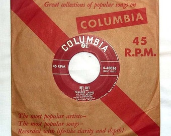 Vintage 45 RPM Vinyl Columbia Record Frankie Laine