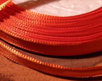 10 M, 6 mm satin ribbon - orange bright - SA2