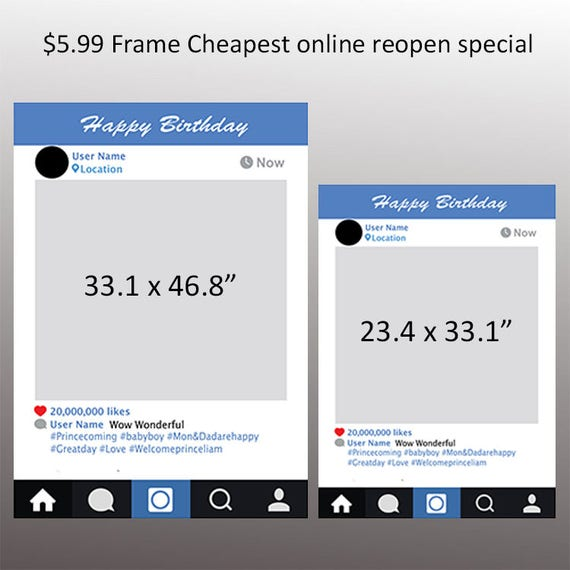 Instagram Photo booth Props Instaframe Digital download