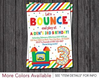 Bounce House Birthday Invitation - Printable Bounce House Invitations - Bouncy House Birthday Invitation - Bounce House Party