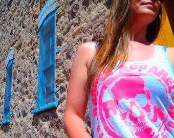 Sugar Skull T-Shirt Tank /Slouchy /Day of the Dead /Skull /For Her /Dia de Los Muertos /Womens /Graphic Shirt /Custom Shirt /Gift /Present