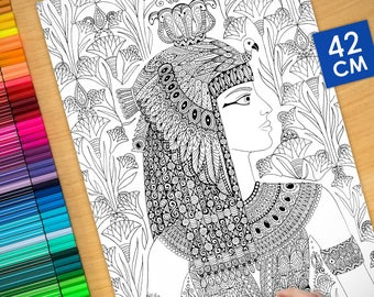 Coloring poster - CLEOPATRA (16.5 inches)