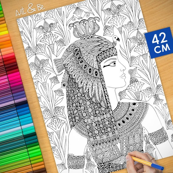 Coloring poster - CLEOPAT...