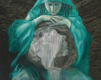 Guardian of Nectan's Glen Fine Art Canvas Giclee Print