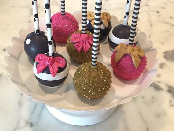 Black And White Kate Spade Themed Cake Pops Regular Or