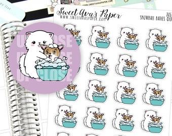 Dog Bath Planner Stickers - Dog Planner Stickers - Groomers Planner Stickers - Hand Drawn Stickers - Cat Planner Stickers - 2057