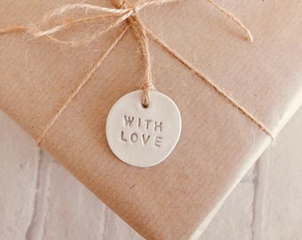 Handmade With Love Clay Gift Tag