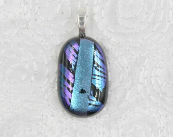 Tigress Fused Dichroic Glass Pendant