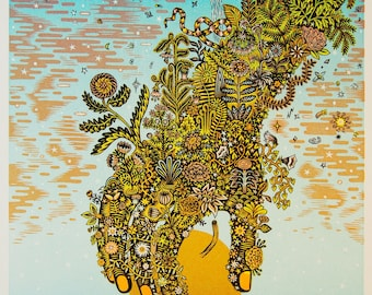 Eve - Woodcut Print, Woodblock Print by Tugboat Printshop, Valerie Lueth