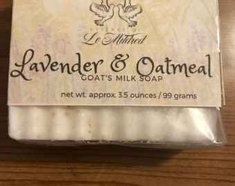 Lavender & Oatmeal Homemade Soap