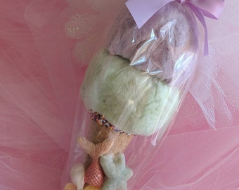 It's a mermaid ice cream party! 12 double scoop cotton candy mermaid cones.