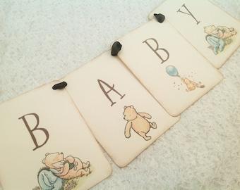 Winnie the Pooh Baby Shower Birthday Banner-Pooh Banner Garland Bunting