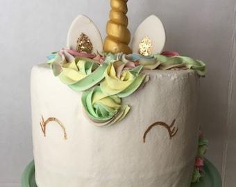 Unicorn fake cake