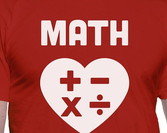 Math Heart with Symbols T-Shirt