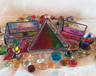 Gorgeous, elegant stained glass boxes! Dresser, jewelry, Perfect unique gift for anyone!