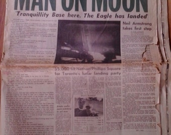 Man on Moon, Tranquillity Base here, The Eagle has landed. The Globe and Mail Apollo XI Edition